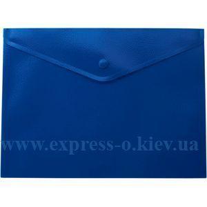 Изображение Папка с кнопкой непрозрачная глянцевая синяя A5