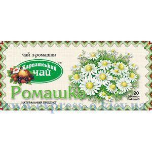 """Изображение Чай травяной   """"Карпатський чай"""" Ромашка  20 пакетов  х  1,4 г"""