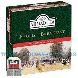 Изображение Чай черный Ahmad  Английский к завтраку  100 пакетов х 2 г