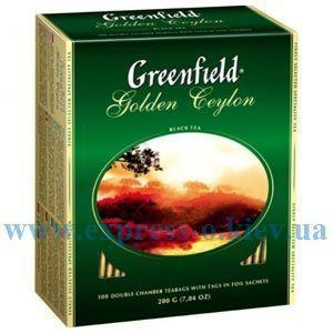 Изображение Чай черный Greenfield Golden Ceylon  100 пакетов х 2 г